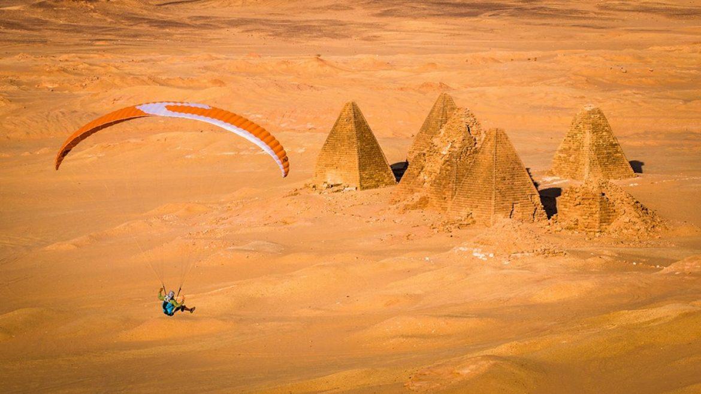 Vol parapente magique au Jebel Barkal de Marek (Soudan)
