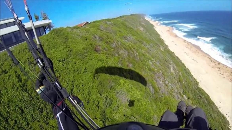 Soaring parapente en Afrique du Sud sur 10 km de côte