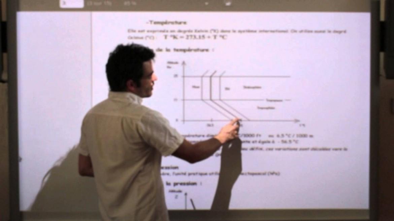 Suivez par vidéo les cours sur l'aérodynamique avec David