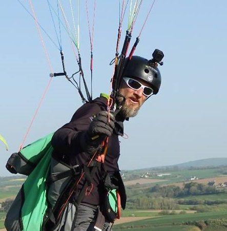 Alan Le Berre, encore un jeune pilote mais déjà beaucoup de vols dans le vent fort