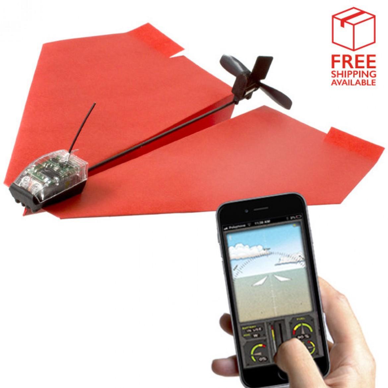 Avion en papier motorisé et pilotable avec un smartphone