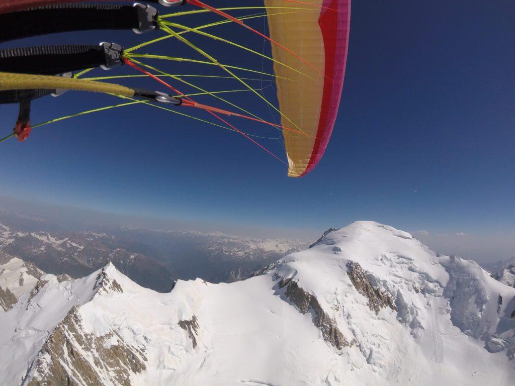 Ascension du Mont Blanc en biplace parapente par les faces nord