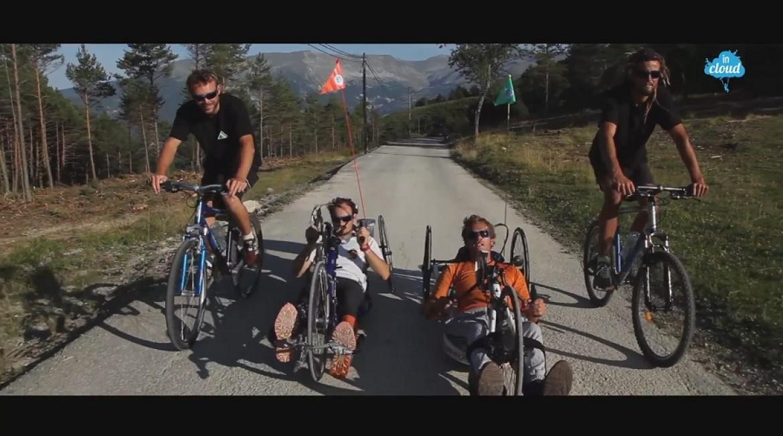 1200 km dans les Alpes en parapente et en vélo à bras