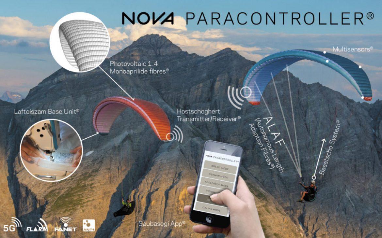 Paracontroller®,  le Parapente connecté et assisté proposé par NOVA