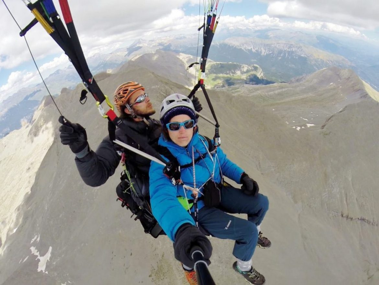 Céline et Sébastien ont traversé les Pyrénées en parapente biplace
