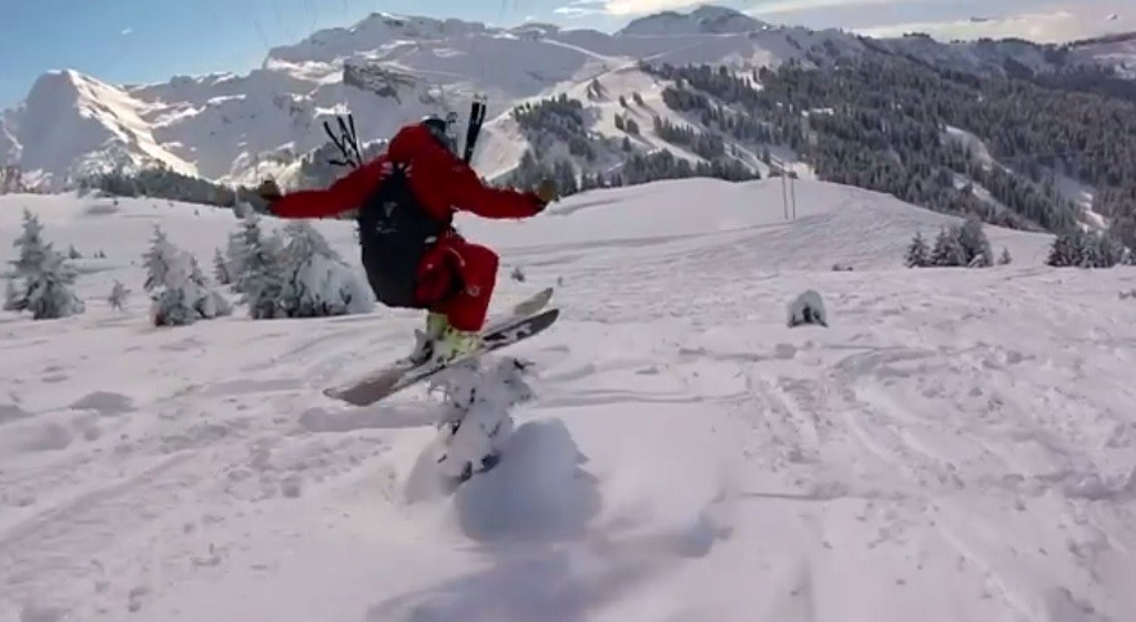 Speed riding à Avoriaz avec Thomas Brand et Valentin Delluc