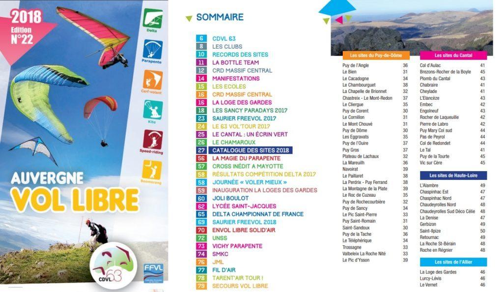 Tous les sites parapente d'Auvergne réunis dans un guide