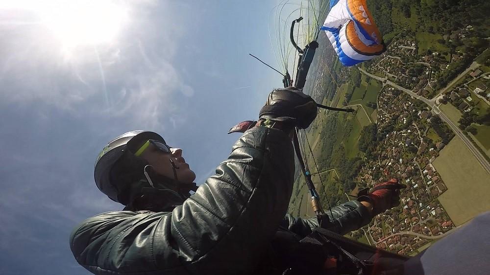 Axel Fornasier, un jeune apprenti pilote acro plein d'espoir