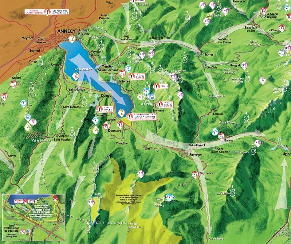 Les brises de vallées et cartes des brises dans les Alpes