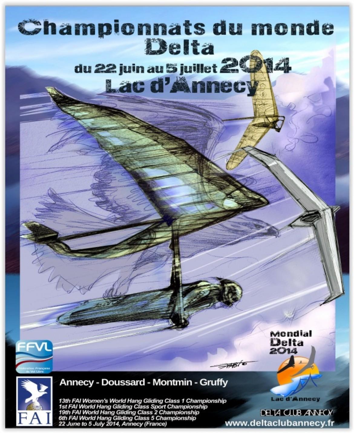 Mondial delta 2014 à Annecy du 22 juin au 5 juillet