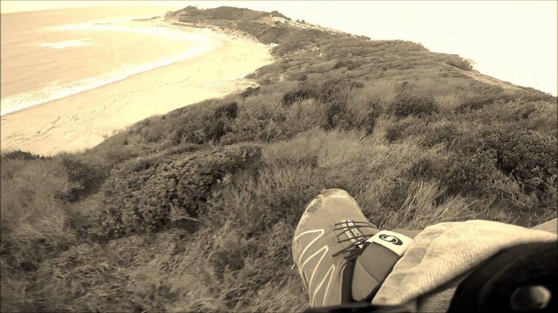 Chaussures volantes à Lafitenia, site parapente Acotz (pays basque)