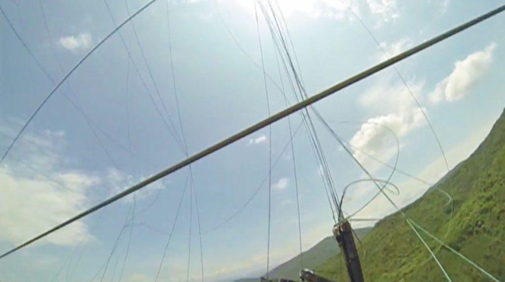 Collision en vol parapente avec une ligne à très haute tension