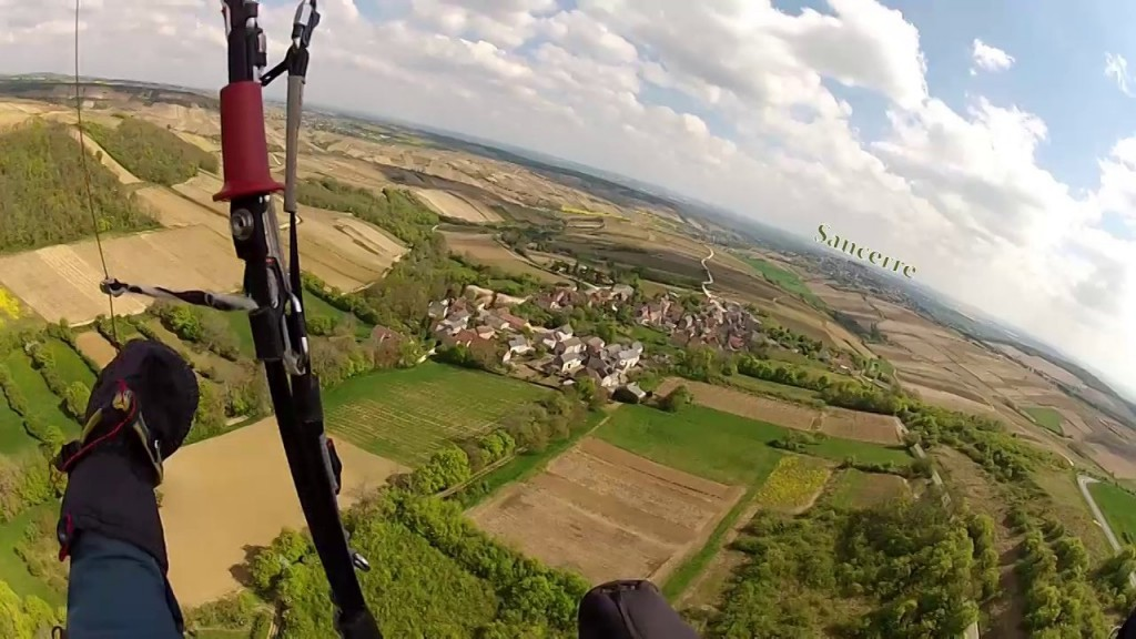 Cross parapente de Martin Morlet depuis Sancerre  (110 km)