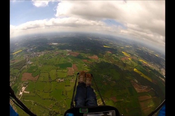 Vol site parapente St Marc d'Ouilly (14)