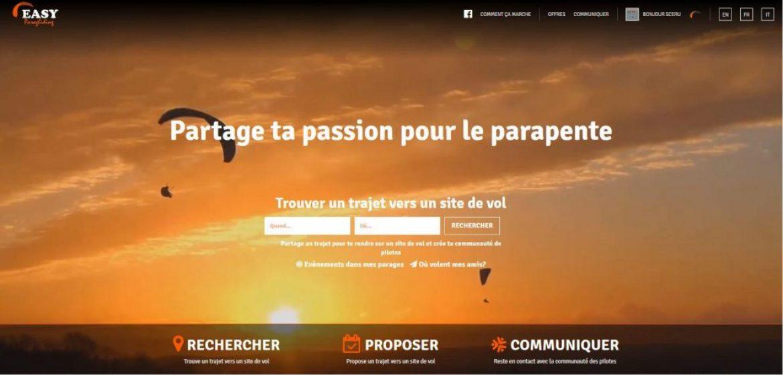EasyParagliding : une plateforme pour saisir plus d'opportunités pour voler