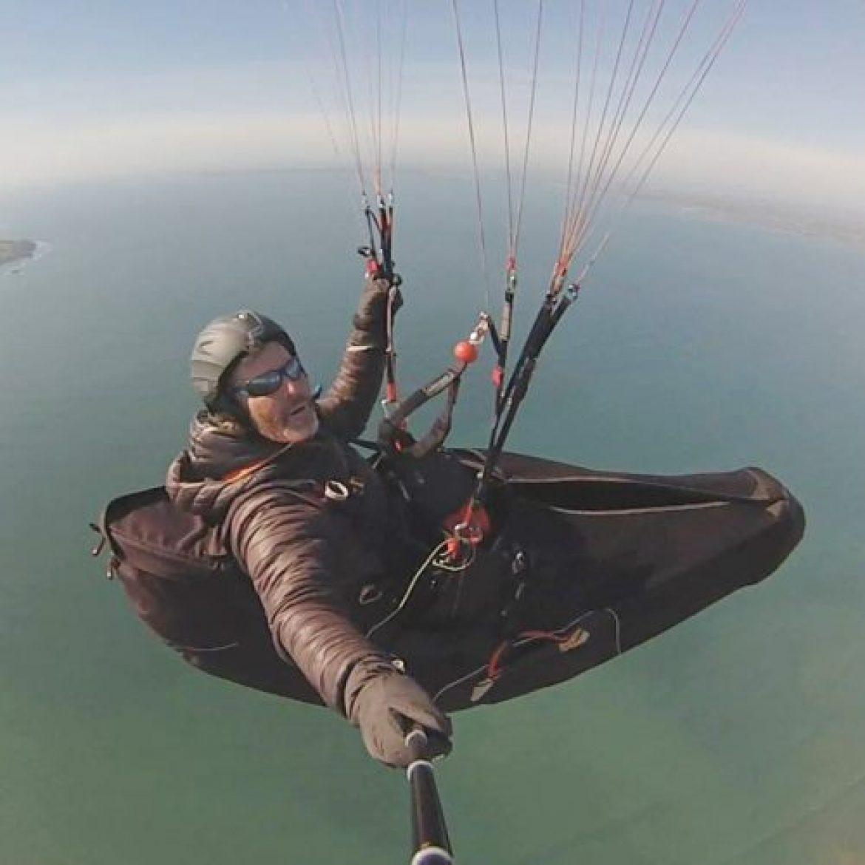 Eric Langelé, paramoteur et parapente dans le Finistère (300 heures par an)