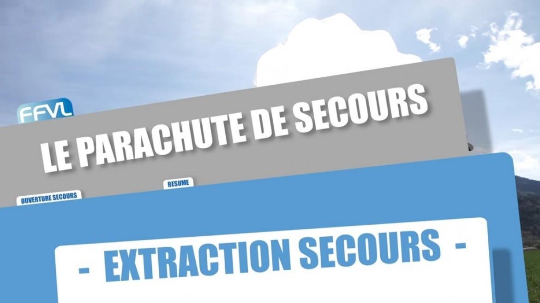 Conseils FFVL : Etre sûr de l'extraction du secours parapente