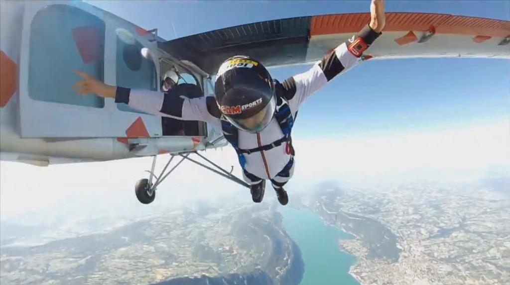 Fabien Duperrier, un parapentiste qui « skydive » à fond!