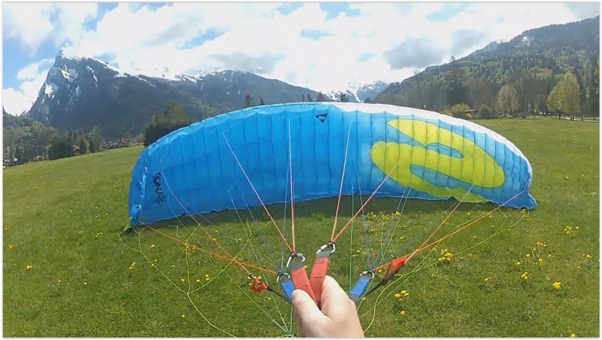 Tuto parapente : gonflage face voile / premiers exercices