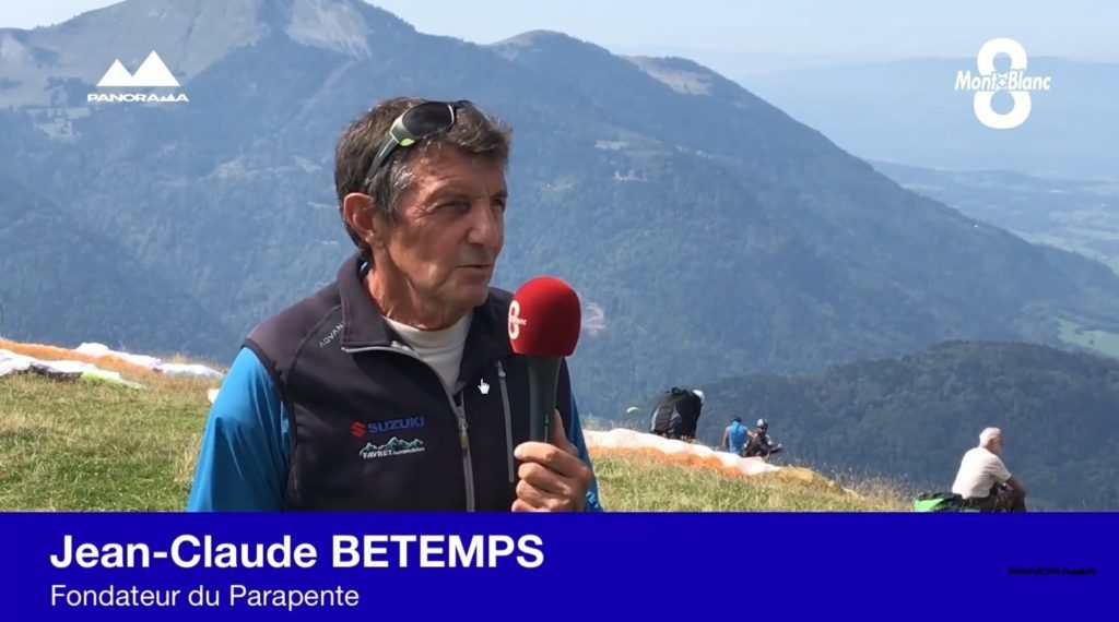 Jean-Claude Betemps interrogé au berceau du parapente par « 8 Mont-Blanc »