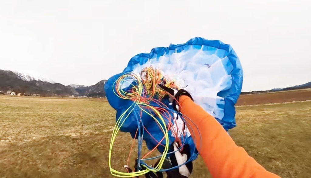Savoir lancer sa voile parapente pour la gonfler sans toucher le sol