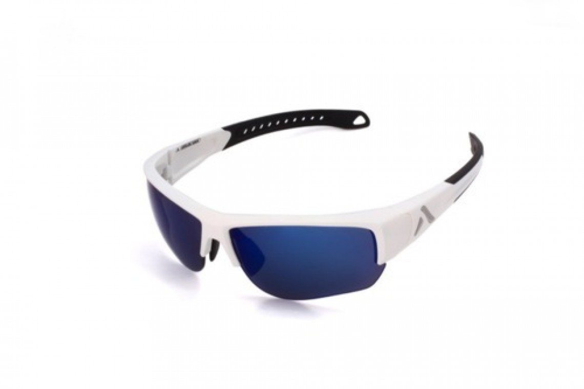 Altitude Eyewear Lander blanche polarisant flash bleu cat 3 (nu)