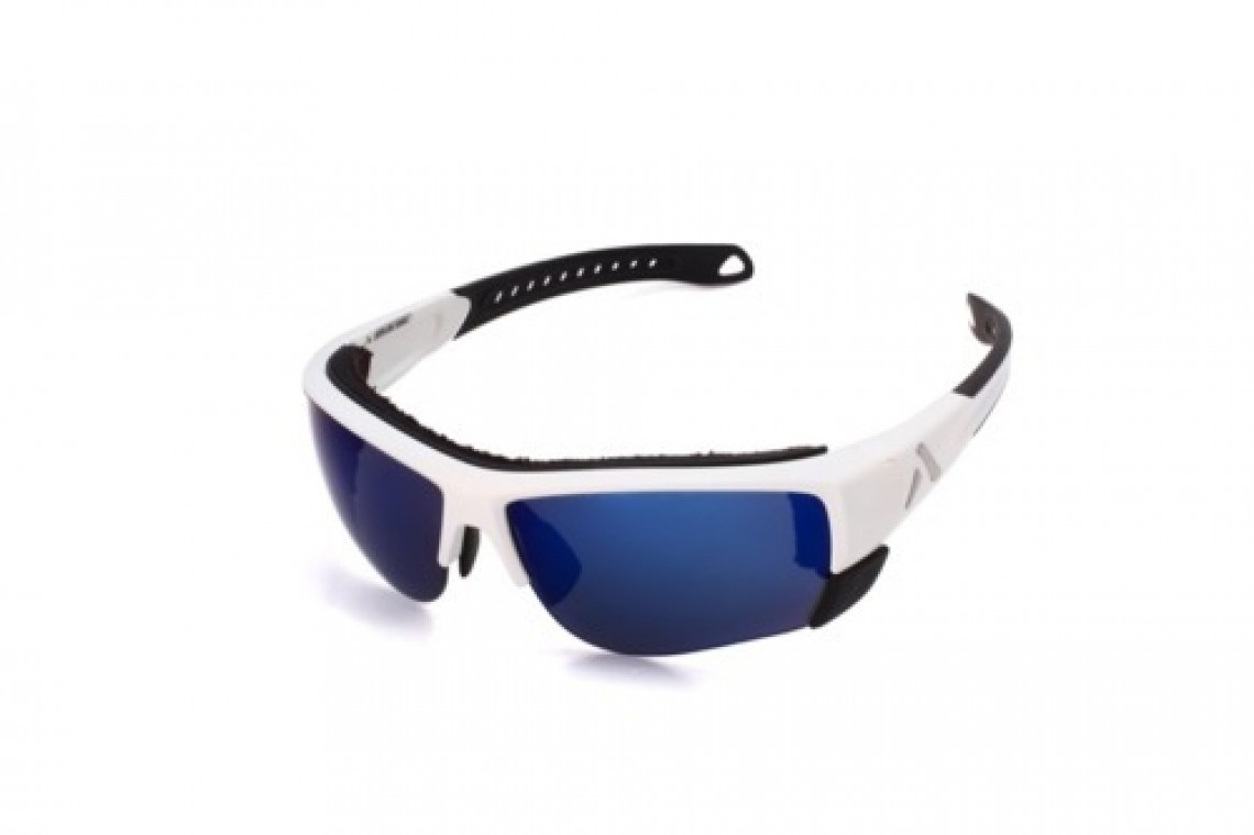 Altitude Eyewear Lander blanche polarisant flash bleu cat 3