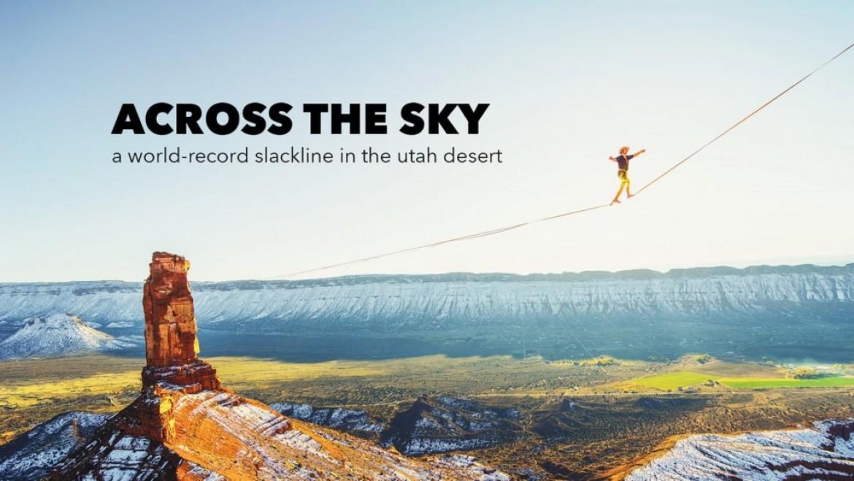 Le record du monde de highline de Théo Sanson (493 m)