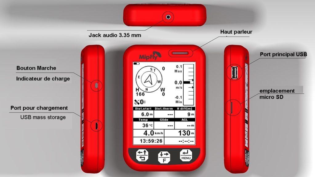Test du MIPFly One, vario GPS avec écran très lisible et open-source