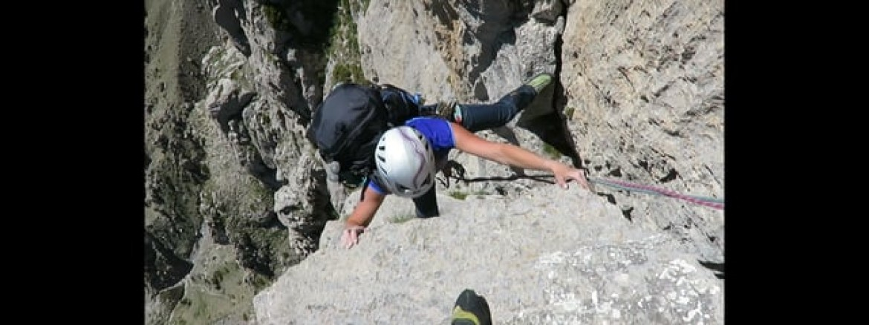 Para-grimpe au Chapeau de Gendarme (Alpes Haute Provence)