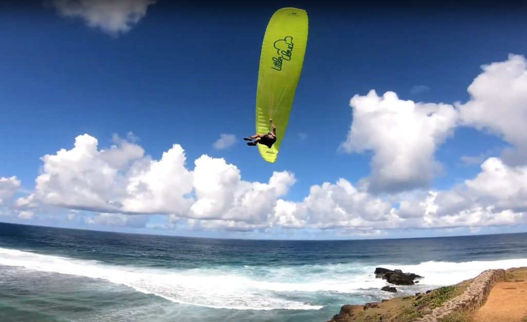 Parapente et Kite à l'île Maurice avec Mat (LITTLE CLOUD Gracchio)