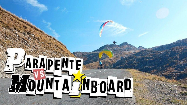 Parapente versus Mountainboard au Col du Glandon avec Big Jin Corp