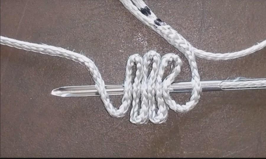 Faire une épissure sur la corde d'un treuil parapente