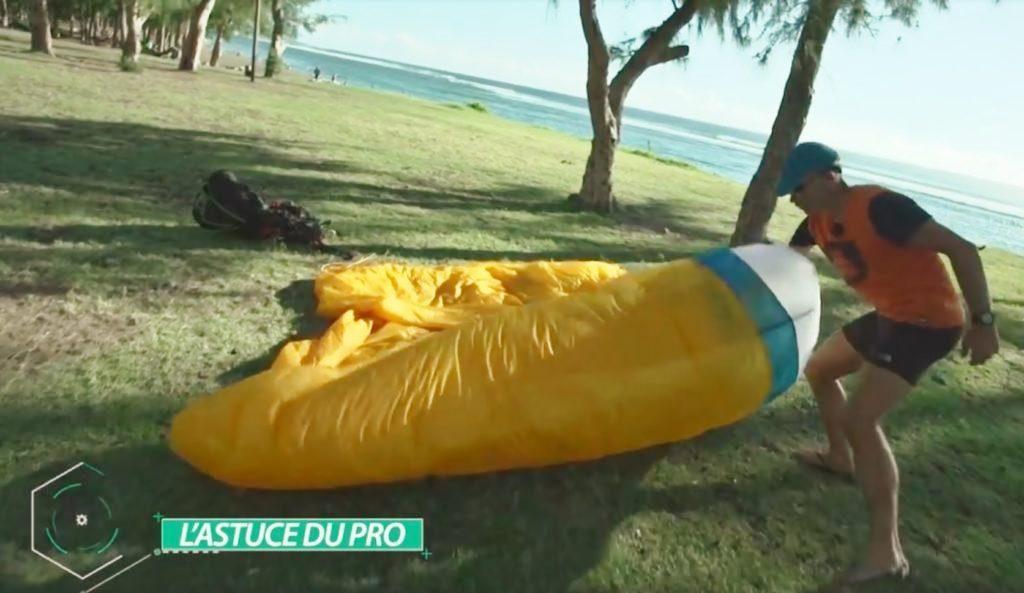 Astuce WINGMASTER – Technique pour plier sa voile parapente en urgence
