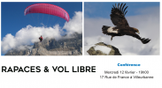 Conférence Rapaces et Vol libre à Lyon, le 12 février à Lyon