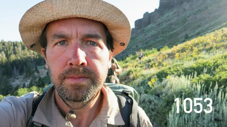 Selfie à chaque mile d'une randonnée de 4180 km