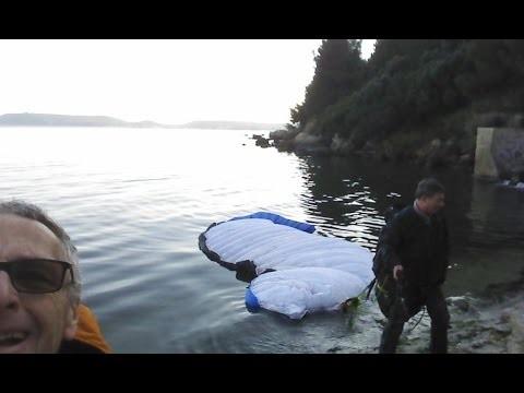 Simulation d'amerrissage parapente en piscine