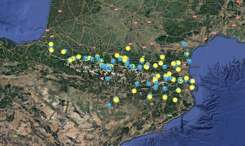 La carte de tous les sites parapente des Pyrénées présentée par Benjamin