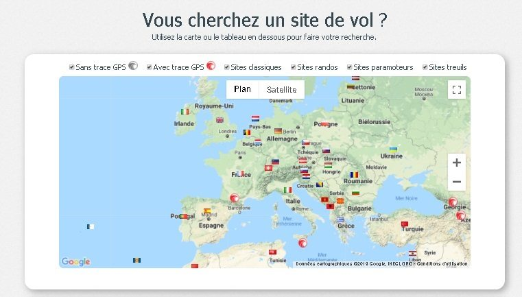 Syride lance une nouvelle page de sites de vol avec fiches ultra-complètes