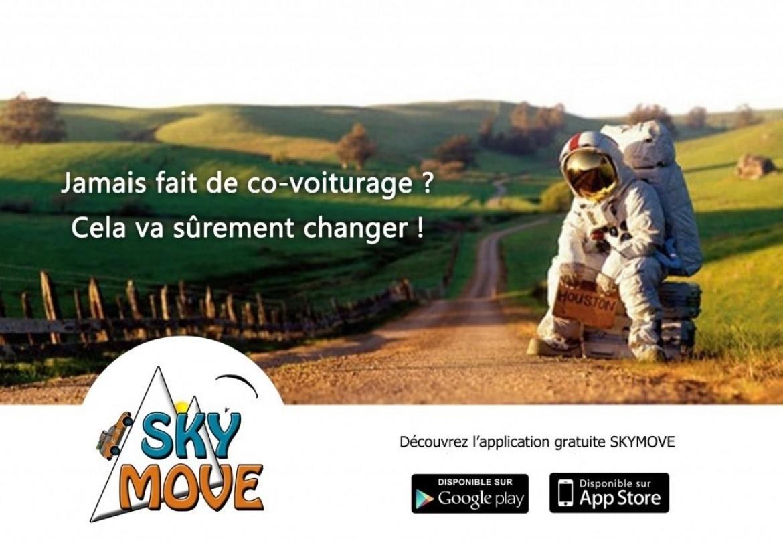 SKYMOVE, application gratuite de co-voiturage parapente