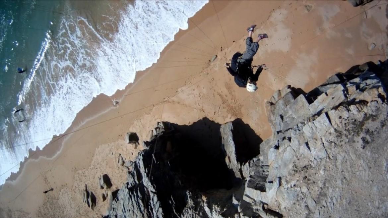 """""""Swift fly on coast"""", soaring avec caméra fixée sur la voile"""