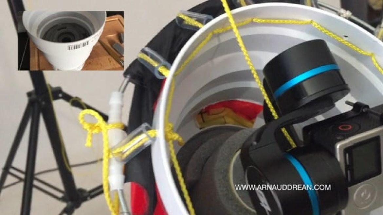 Système de caméra suiveuse stabilisée fabriqué avec des raccords VMC