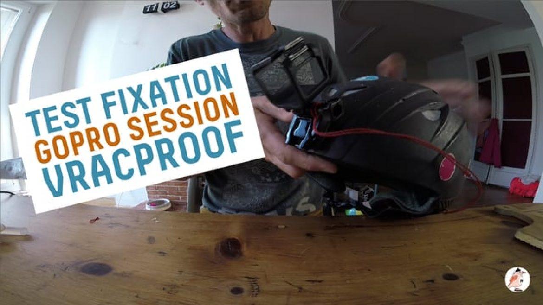 Système de fixation Gopro largable pour casque présenté par Nico