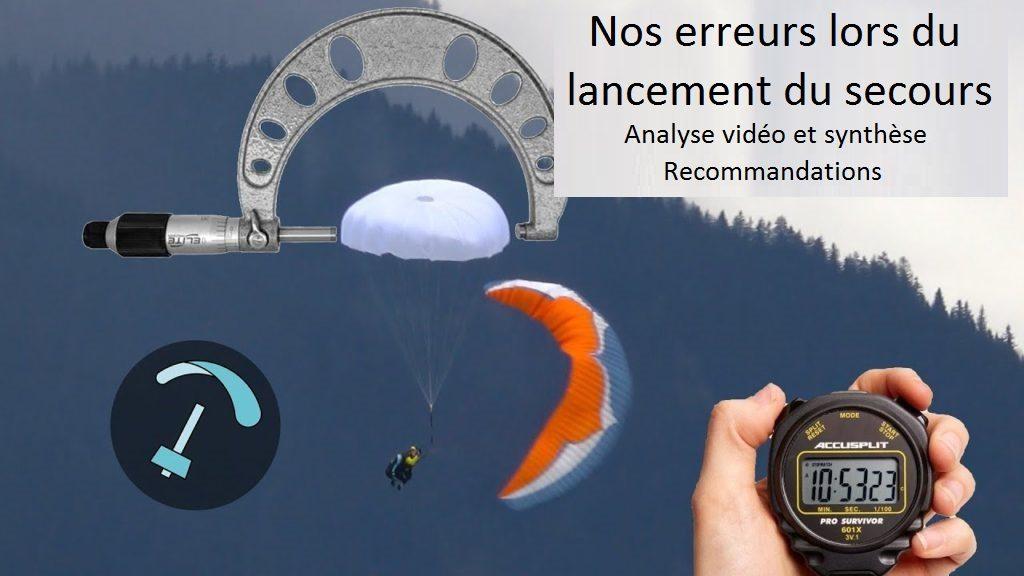 Vers une extraction du parachute de secours adaptée aux réflexes de tous
