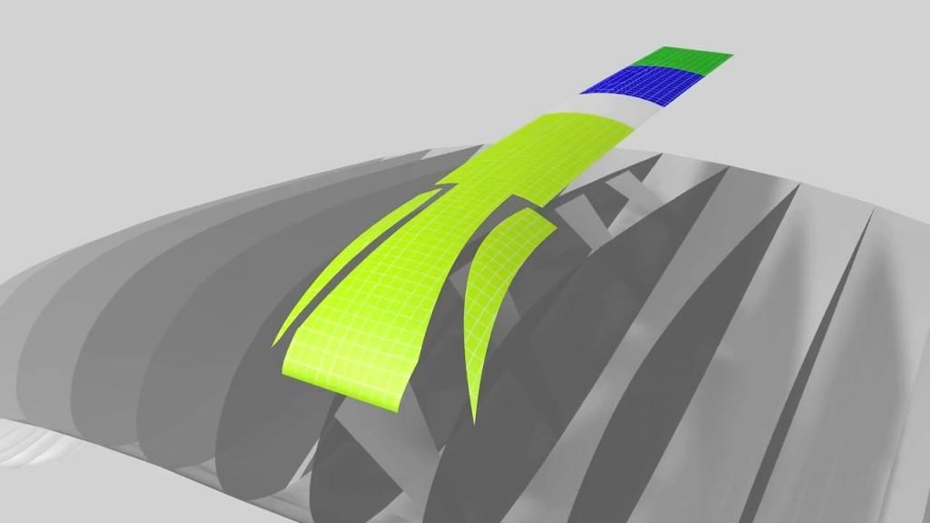 Un profil d'aile sans plis avec la technologie du Cord Cut Billow