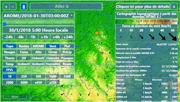 Un nouveau site météo dédié au vol libre : velivole.fr