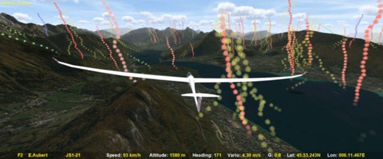 Visualiser les ascendances providentielles sur son secteur avec CondorSoaring