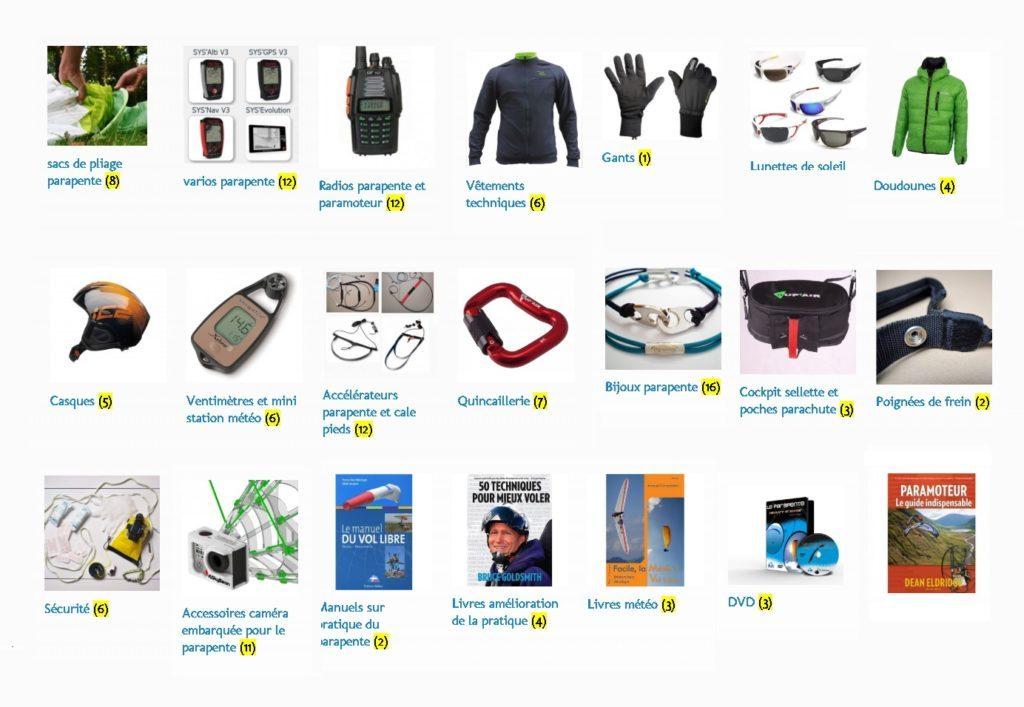 Boutique matériel parapente : tous nos produits en exclusivité