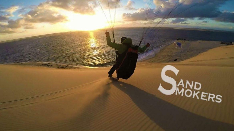 Vol avec Yann Freund au coucher du soleil à la dune du Pilat