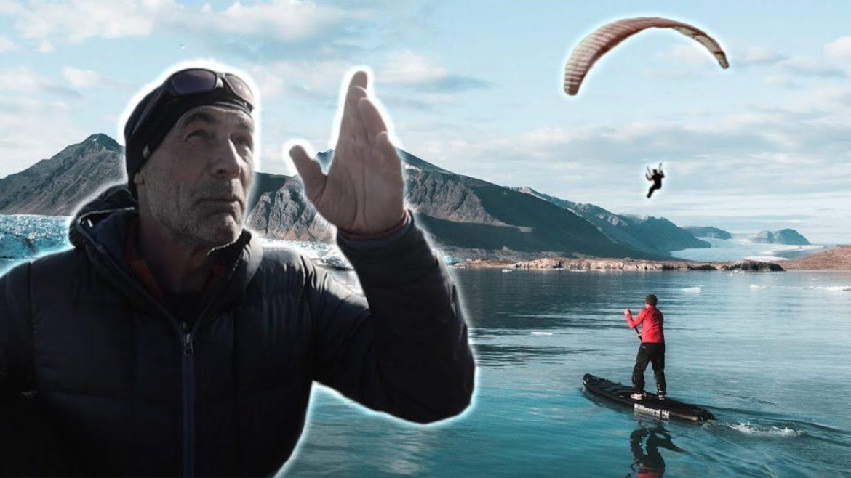 Vol parapente de Mike Horn à 80° Nord (Artique)